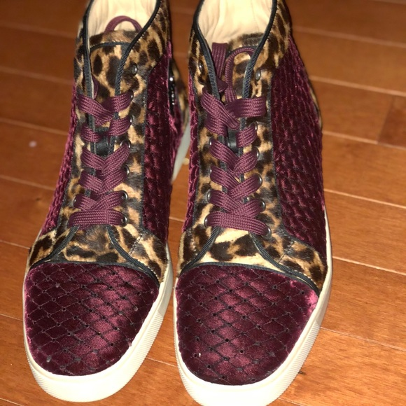 check out dde0e 7cb38 Christian louboutin high top sneakers